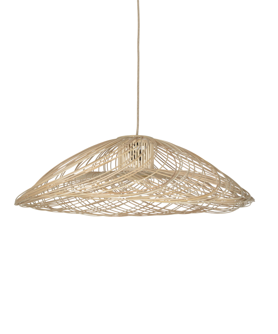 Suspension rotin naturel SATELISE